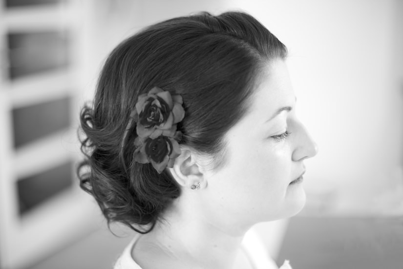 A woman prepares for her wedding in Switzerland