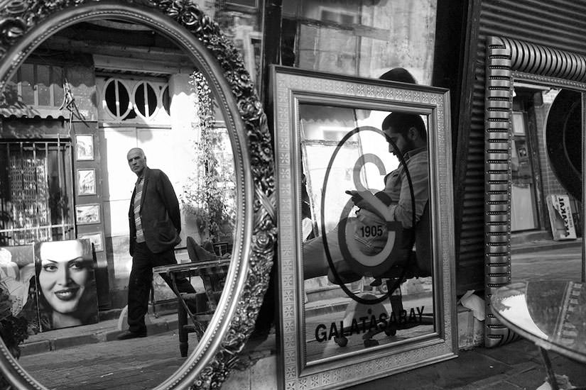 The world being mirrored, photographed in Istanbul